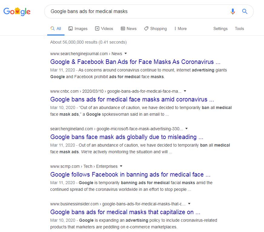 谷歌和Facebook对登广告的建议